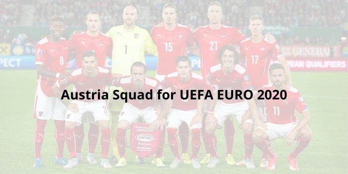 Austria squad